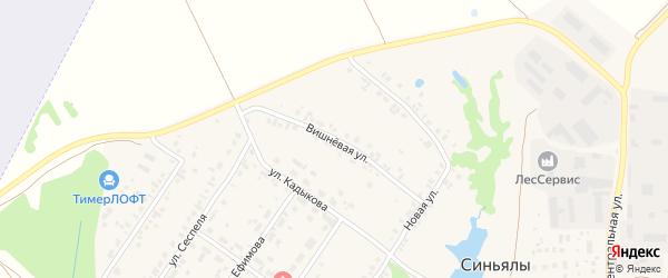 Вишневая улица на карте села Синьялы с номерами домов