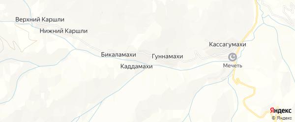 Карта хутора Бикаламахи в Дагестане с улицами и номерами домов
