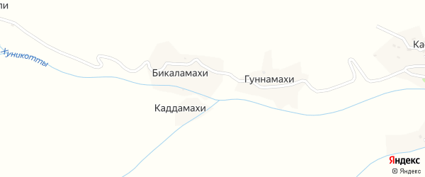 Улица Р.Асхабали на карте хутора Бикаламахи с номерами домов