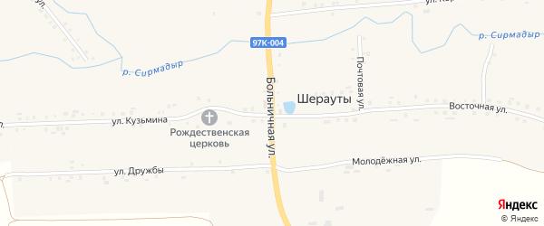 Больничная улица на карте села Шерауты с номерами домов