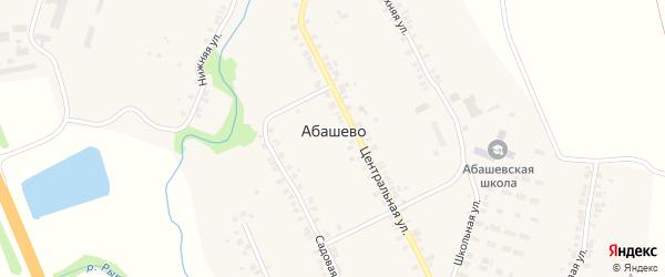 Улица Абашевский поворот на карте села Абашево с номерами домов