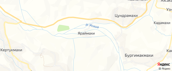 Карта хутора Яраймахи в Дагестане с улицами и номерами домов