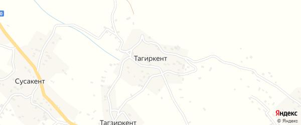 Тагзиркентская улица на карте села Тагиркента с номерами домов