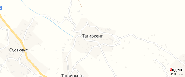 Уллуаинская улица на карте села Тагиркента с номерами домов