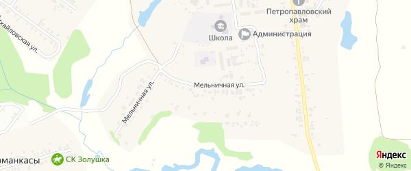 Мельничная улица на карте села Синьялы с номерами домов