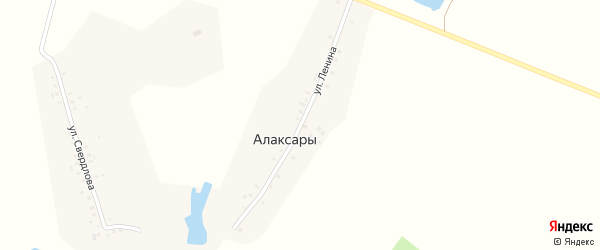 Улица Ленина на карте деревни Алаксар с номерами домов