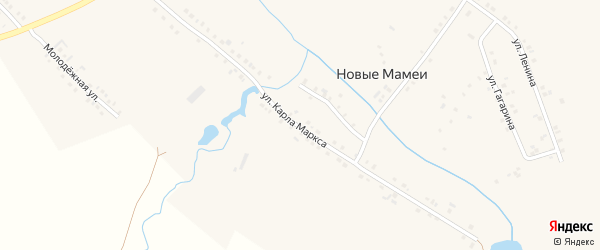 Улица Карла Маркса на карте деревни Новые Мамеи с номерами домов
