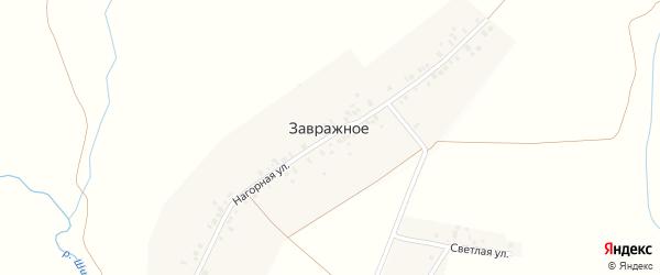Нагорная улица на карте деревни Завражного с номерами домов