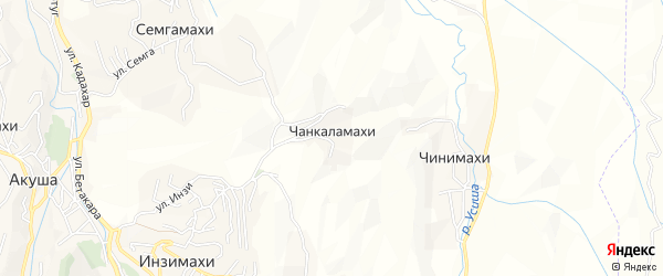 Карта хутора Чанкаламахи в Дагестане с улицами и номерами домов
