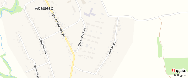Школьная улица на карте села Абашево с номерами домов