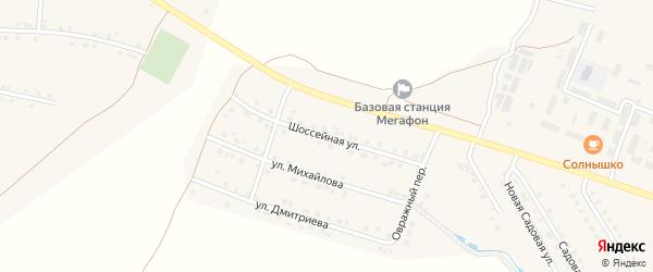 Шоссейная улица на карте села Шихазаны с номерами домов