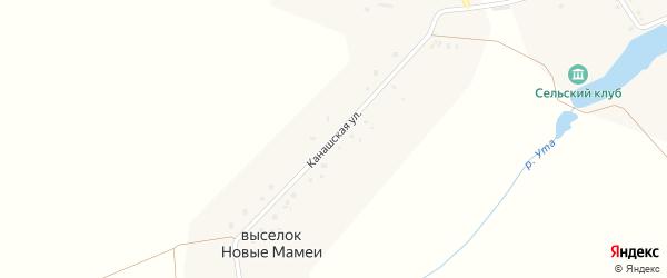 Канашская улица на карте выселков Новые Мамеи с номерами домов