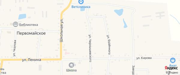 Улица Чернышевского на карте Первомайского села с номерами домов