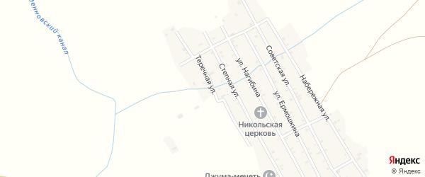 Теречная улица на карте села Крайновки с номерами домов