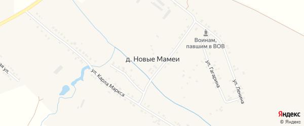 Улица Гагарина на карте деревни Новые Мамеи с номерами домов