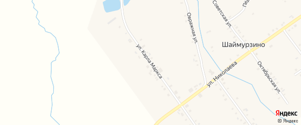 Улица К.Маркса на карте деревни Шаймурзино с номерами домов