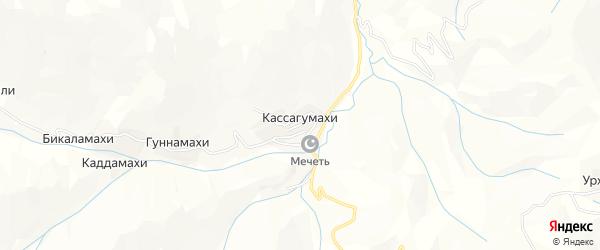 Карта хутора Гуннамахи в Дагестане с улицами и номерами домов