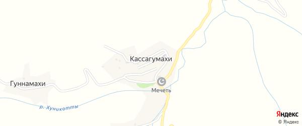 Улица М. Абрека на карте хутора Гуннамахи с номерами домов