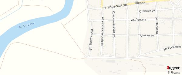 Улица Толстикова на карте села Тамбовки с номерами домов