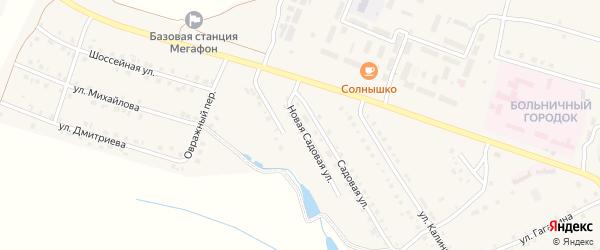 Новая Садовая улица на карте села Шихазаны с номерами домов
