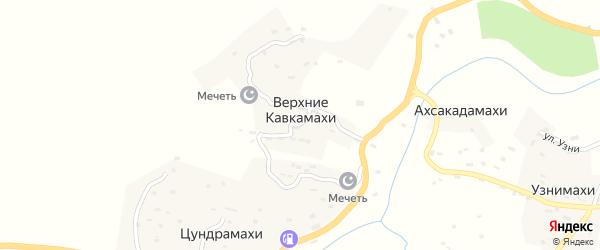 Улица И.Магомедова на карте села Кавкамахи с номерами домов