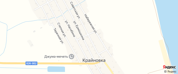 Советская улица на карте села Большей Задоевки с номерами домов