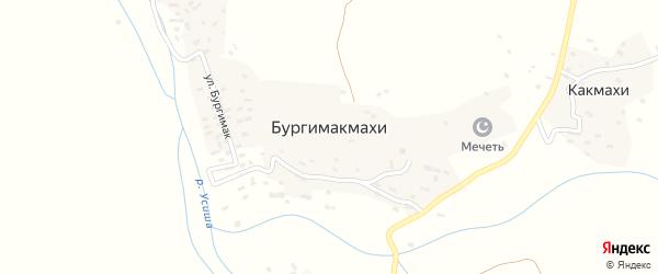 Улица Гурдни на карте села Бургимакмахи с номерами домов