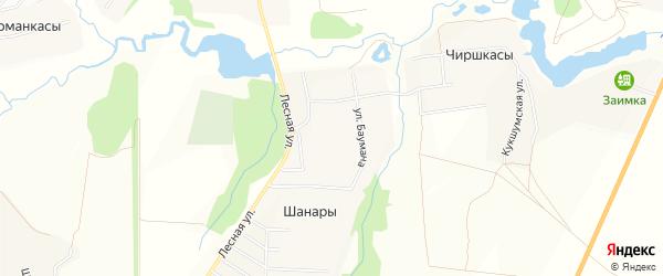 Карта деревни Шанар в Чувашии с улицами и номерами домов