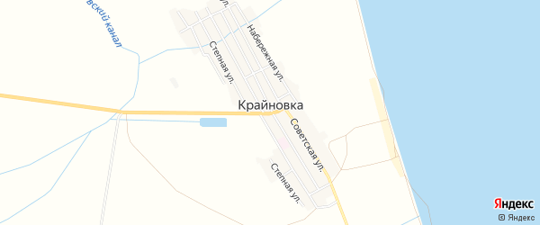 Карта села Крайновки в Дагестане с улицами и номерами домов