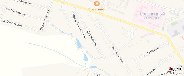 Садовая улица на карте села Шихазаны с номерами домов