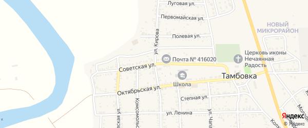 Советская улица на карте села Тамбовки с номерами домов