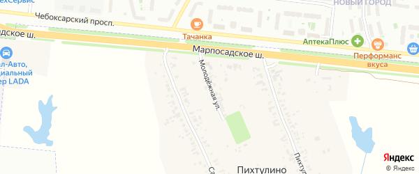 Молодежная улица на карте деревни Пихтулино с номерами домов