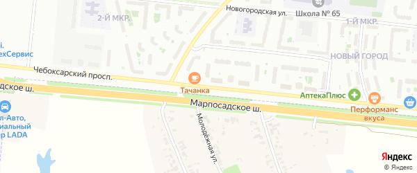 Стартовая улица на карте Чебоксар с номерами домов