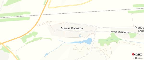 Карта деревни Малые Коснары в Чувашии с улицами и номерами домов