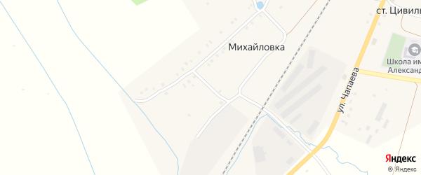 Железнодорожный переулок на карте деревни Михайловки с номерами домов