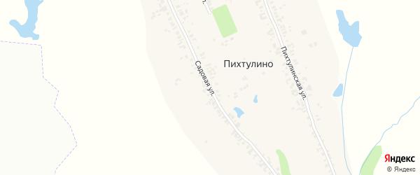 Садовая улица на карте деревни Пихтулино с номерами домов