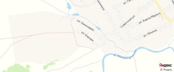 Улица Кирова на карте села Шихазаны с номерами домов