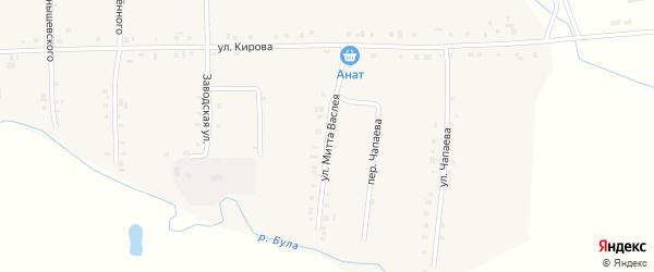 Улица Митта Васлея на карте Первомайского села с номерами домов