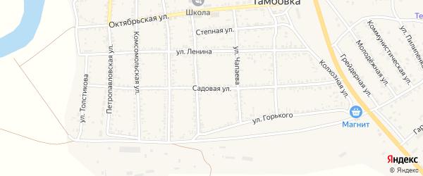 Садовая улица на карте села Тамбовки с номерами домов