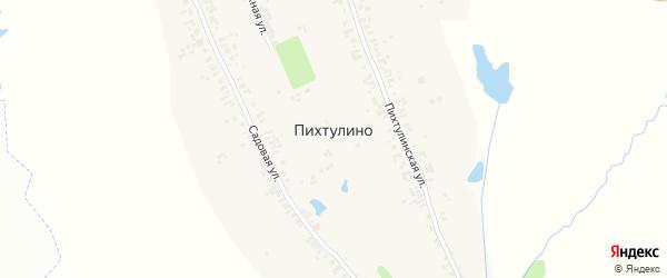 Озерная улица на карте деревни Пихтулино с номерами домов