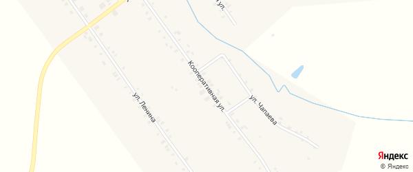 Кооперативная улица на карте деревни Шаймурзино с номерами домов