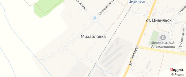 Цветочная улица на карте деревни Михайловки с номерами домов