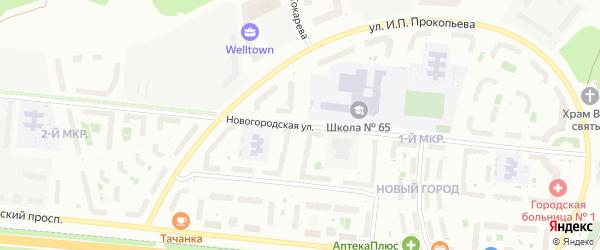 Улица Композитора А.М.Токарева на карте Чебоксар с номерами домов