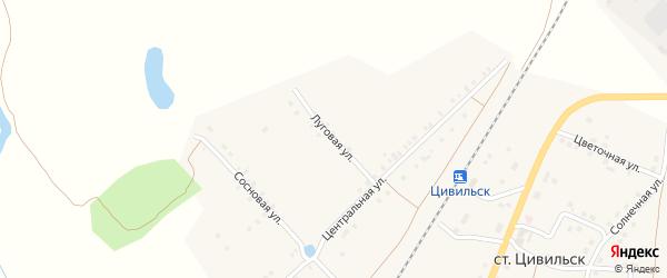 Луговая улица на карте деревни Михайловки с номерами домов