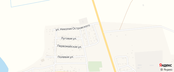 Астраханская улица на карте села Тамбовки с номерами домов