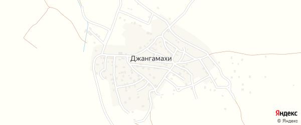 Улица Гаджиева З.Г на карте села Джангамахи с номерами домов