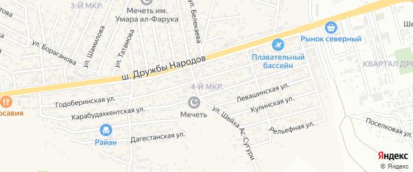 МКР-4 2-я линия на карте поселка Ленинкента с номерами домов