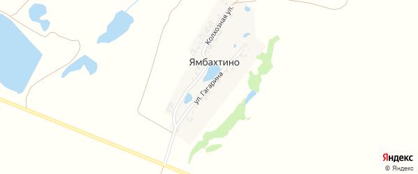 Улица Гагарина на карте деревни Ямбахтино с номерами домов