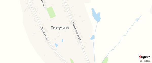Пихтулинская улица на карте деревни Пихтулино с номерами домов