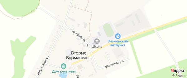 Улица Николаева на карте деревни Вторые Вурманкасы с номерами домов